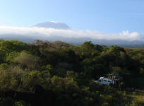 Our camp and Kilimanjaro