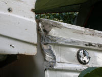 Damage to front of canopy