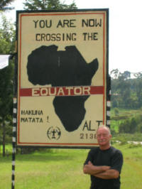 Equator just before Nyahururu