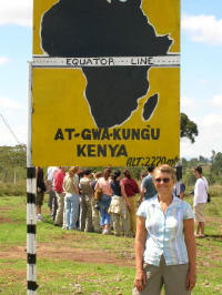 Equator crossing just after Nyahururu