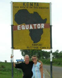 Equator crossing at Nanyuki on main road