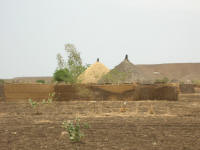 Huts near Gederef. The town consists of neatly laid out compounds similar to this