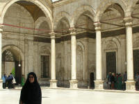 Outer courtyard of Muhammad 'Ali Mosque. The lady is Ann . . .