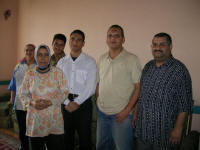 Ismalia House Hotel staff. Ashraf,an  owner, is second from right