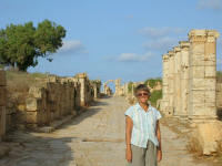 A street in Leptis Magna