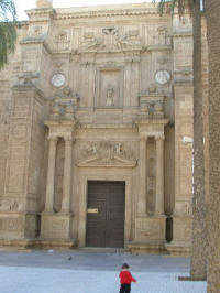 Cathedral in Almeria - construction started in 1524, renaissance facade with baroque inside decor