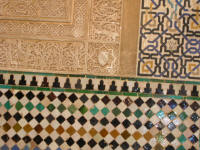 Tiling and carving detail