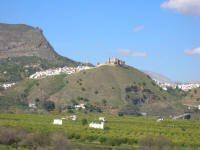 Alora, white village with castle on the hill