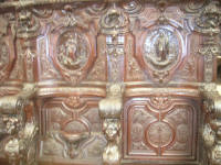 Mahogany choir stalls carved by Pedro Duque Cornejo from Seville