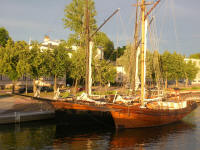 Sailing boats moored at Porvoo