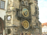 The astronomical clock on the old town hall tower