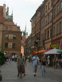 Warsaw Old City street scene