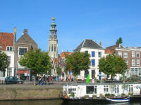 Middelburg with the City Hall and its tower in the background