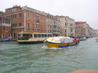 A loaded boat on the Grand Canal