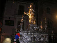 The statue of St Lucy