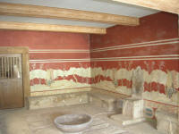 Throne room with the Cretan bird