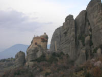 A monastry perched high and isolated