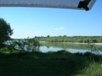 Camping on the river near Nikopol
