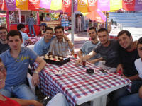 Tea with students in Trabzon