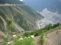 Looking down on the Artvin Dam
