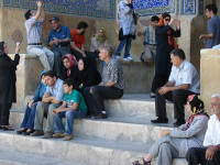 Sheikh Lotfollah Mosque - Iranian tourists also like to take group photos