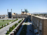 Imam Square with Imam Mosque. Taken from the Ali Qapu Palace