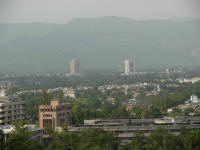 View of Islamabad - lots of greenery