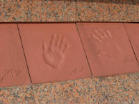 Hand prints of artisans involved in the project