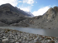Passu Lake - the glacier used to go right to the road through this lake