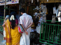 Even inside the 4th gpuram there are normal businesses although most are dedicated to ritual related goods.