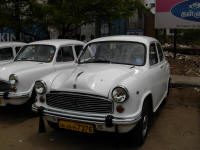 Old Ambassador used as a taxi