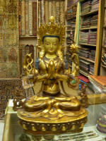 A Tibetan statue of Buddha that I really loked - INR20,000 without bargaining