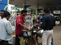 Selling food from a bicycle