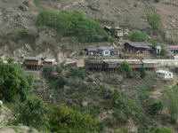 Houses clinging to the mountain