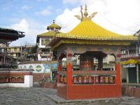 Prayer wheels in the old market