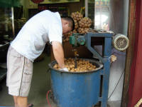 Roasting walnuts