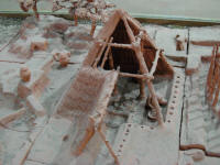 Model of square hut