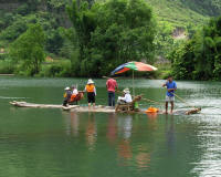 Rafting on the Yulong River