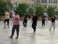 Getting up early has its compensations. Tai Chi in the square