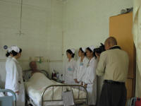 An official photograph session for the hospital records