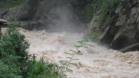 Close up of the rapids