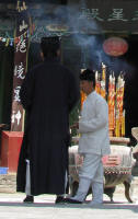Priests outside the 3 Stars Temple