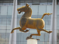 Galloping Horse at Lanzhou train station