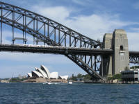 The 2 icons - Sydney Harbour Bridge and the Opera House
