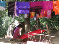 Weaving in the village