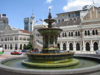Fountain in front of Sultan Abdul Samad Building on Merdeka Square