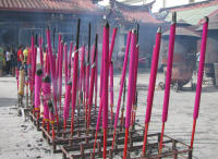 Large Candles at Kuan Yin Temple