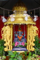 One of the many altars to Ganesh