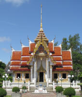 Buddhist Temple showing 3 tiered roof