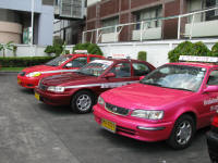 Pink taxis